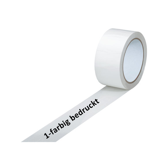 PVC-Band, extra stark, weiß, 1-farbig bedruckt