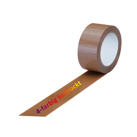 PVC-Band, braun, 4-farbig bedruckt
