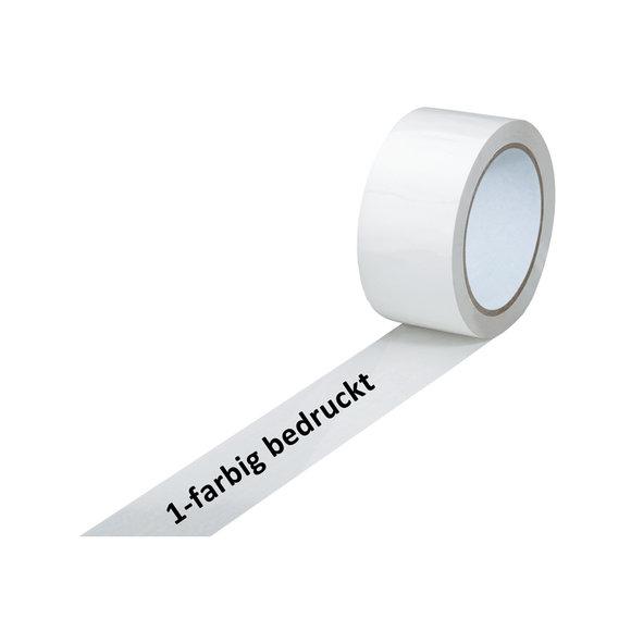 PVC-Band, weiß, 1-farbig bedruckt