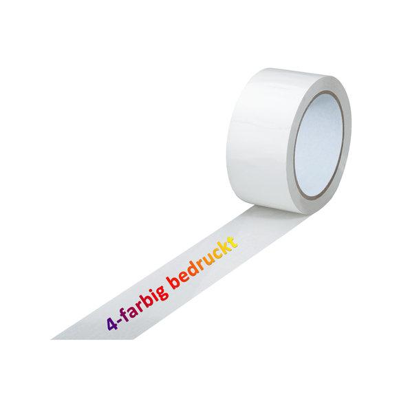 PVC-Band, weiß, 4-farbig bedruckt