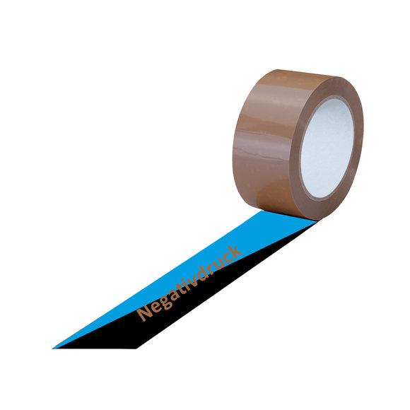 PVC-Band, braun, 2-farbig bedruckt, negativ