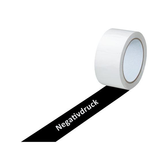 PVC-Band, weiß, 1-farbig bedruckt, negativ